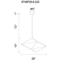 Pento 8 Light 29 inch Silver Pendant Ceiling Light