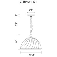 Escot 1 Light 12 inch Black Chandelier Ceiling Light