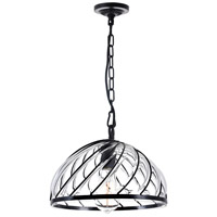 CWI Lighting 9755P12-1-101 Escot 1 Light 12 inch Black Chandelier Ceiling Light