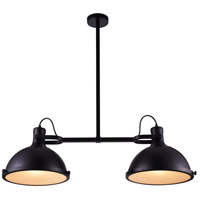 CWI Lighting 9760P37-2-101 Strum 2 Light 37 inch Black Chandelier Ceiling Light