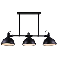 CWI Lighting 9760P50-3-101 Strum 3 Light 50 inch Black Chandelier Ceiling Light