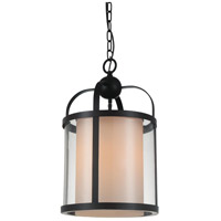 CWI Lighting 9804P12-1-115-A Danielle 1 Light 12 inch Oil Rubbed Brown Pendant Ceiling Light