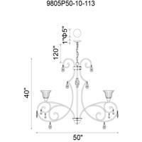 CWI Lighting 9805P50-10-113 Shakira 10 Light 50 inch Dark Bronze Pendant Ceiling Light