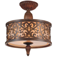 CWI Lighting 9807C14-3-116 Nicole 3 Light 14 inch Brushed Chocolate Flush Mount Ceiling Light