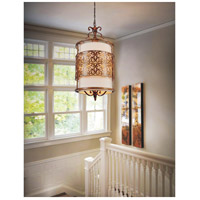 CWI Lighting 9807P18-3-116-A Nicole 3 Light 18 inch Brushed Chocolate Drum Shade Chandelier Ceiling Light