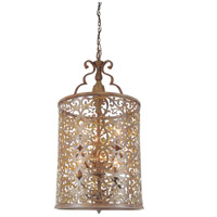 CWI Lighting 9807P18-6-116 Nicole 6 Light 18 inch Brushed Chocolate Chandelier Ceiling Light