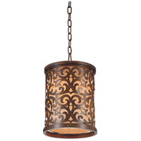 CWI Lighting 9807P9-1-116 Nicole 1 Light 9 inch Brushed Chocolate Pendant Ceiling Light