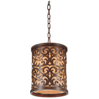 CWI Lighting 9807P9-1-116 Nicole 1 Light 9 inch Brushed Chocolate Drum Shade Mini Pendant Ceiling Light