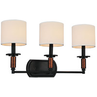 Sia 3 Light 24 inch Black Wall Sconce Wall Light