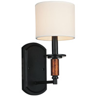 Sia 1 Light 6 inch Black Wall Sconce Wall Light