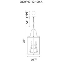 CWI Lighting 9809P17-12-109-A Desire 12 Light 17 inch Oil Rubbed Bronze Chandelier Ceiling Light