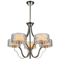 CWI Lighting 9810P27-5-601 Lorri 5 Light 27 inch Chrome Chandelier Ceiling Light