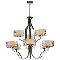 CWI Lighting 9810P37-9-601 Lorri 9 Light 37 inch Chrome Chandelier Ceiling Light