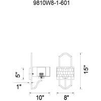 CWI Lighting 9810W8-1-601 Lorri 1 Light 10 inch Chrome Wall Light