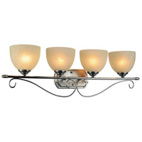 CWI Lighting 9813W31-4-606 Selena 4 Light 31 inch Satin Nickel Wall Sconce Wall Light