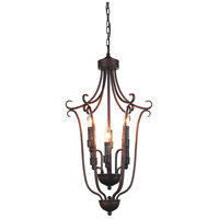 CWI Lighting 9817P16-6-121 Maddy 6 Light 16 inch Oil Rubbed Brown Chandelier Ceiling Light