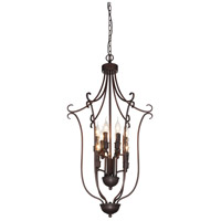 CWI Lighting 9817P19-9-121-B Maddy 9 Light 19 inch Rubbed Brown Chandelier Ceiling Light