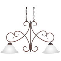 Maddy 2 Light 33 inch Oil Rubbed Brown Chandelier Ceiling Light
