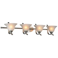 CWI Lighting 9821W38-4-606 Cosmo 4 Light 38 inch Satin Nickel Wall Sconce Wall Light