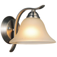 Cosmo 1 Light 7 inch Satin Nickel Wall Sconce Wall Light