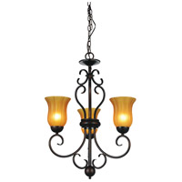 Dulce 3 Light 22 inch Chocolate Chandelier Ceiling Light