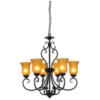 Dulce 6 Light 29 inch Chocolate Chandelier Ceiling Light