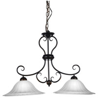 Dulce 2 Light 35 inch Chocolate Chandelier Ceiling Light