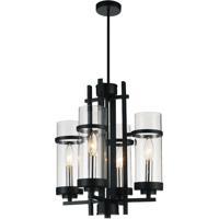 CWI Lighting 9827P14-4-101 Sierra 4 Light 14 inch Black Pendant Ceiling Light