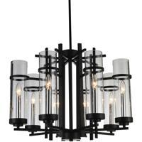 CWI Lighting 9827P26-8-101 Sierra 8 Light 26 inch Black Chandelier Ceiling Light