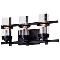 Sierra 3 Light 6 inch Black Wall Sconce Wall Light