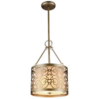 CWI Lighting 9832P11-3-106 Alexandra 3 Light 11 inch Rubbed Silver Pendant Ceiling Light