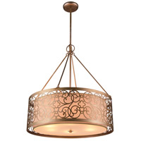 CWI Lighting 9832P18-4-106 Alexandra 4 Light 18 inch Rubbed Silver Chandelier Ceiling Light