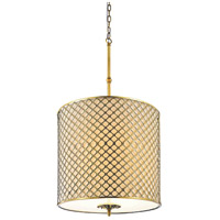CWI Lighting 9835P18-8-605-A Gloria 4 Light 18 inch French Gold Chandelier Ceiling Light