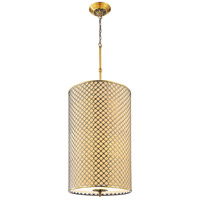 CWI Lighting 9835P18-8-605 Gloria 8 Light 18 inch French Gold Drum Shade Chandelier Ceiling Light