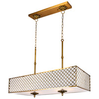 CWI Lighting 9835P36-8-RC-605 Gloria 6 Light 36 inch French Gold Chandelier Ceiling Light