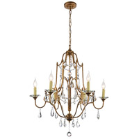 CWI Lighting 9836P28-6-125 Electra 6 Light 28 inch Oxidized Bronze Up Chandelier Ceiling Light