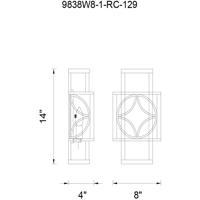 CWI Lighting 9838W8-1-RC-129 Eva 1 Light 8 inch Golden Line Bronze Wall Sconce Wall Light