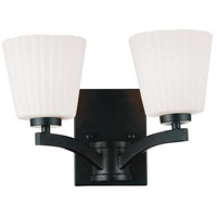 Valencia 2 Light 19 inch Black Wall Sconce Wall Light