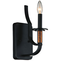 Scarlet 1 Light 5 inch Black Wall Sconce Wall Light