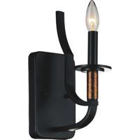 CWI Lighting 9847W5-1-101 Scarlet 1 Light 5 inch Black Wall Sconce Wall Light