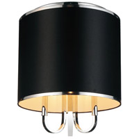 CWI Lighting 9848C16-3-601-(BLACK) Orchid 3 Light 16 inch Chrome Flush Mount Ceiling Light