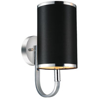 CWI Lighting 9848W6-1-601-(BLACK) Orchid 1 Light 6 inch Chrome Wall Sconce Wall Light