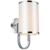 CWI Lighting 9848W6-1-601-(WHITE) Orchid 1 Light 6 inch Chrome Wall Sconce Wall Light