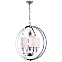 CWI Lighting 9849P21-4-601-(CLEAR)-B Pheonix 4 Light 21 inch Chrome Chandelier Ceiling Light