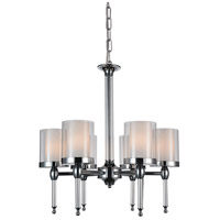 CWI Lighting 9851P22-6-601 Maybelle 6 Light 22 inch Chrome Chandelier Ceiling Light photo thumbnail