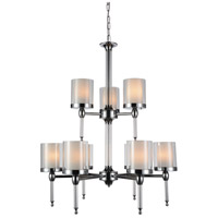 CWI Lighting 9851P28-9-601 Maybelle 9 Light 28 inch Chrome Candle Chandelier Ceiling Light