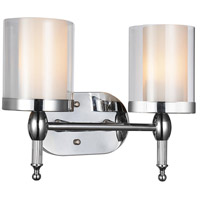 CWI Lighting 9851W14-2-601 Maybelle 2 Light 6 inch Chrome Wall Sconce Wall Light