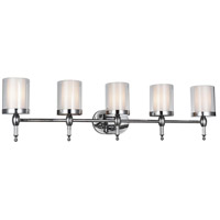 CWI Lighting 9851W43-5-601 Maybelle 5 Light 6 inch Chrome Wall Sconce Wall Light photo thumbnail