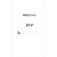 CWI Lighting 9855C14-2-133 Souris 2 Light 14 inch Reddish Brown Flush Mount Ceiling Light