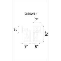 CWI Lighting 9855W6-1-133 Souris 1 Light 6 inch Reddish Brown Wall Sconce Wall Light